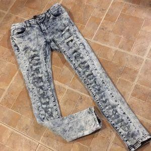 Forever 21 distressed skinny jeans women's medium